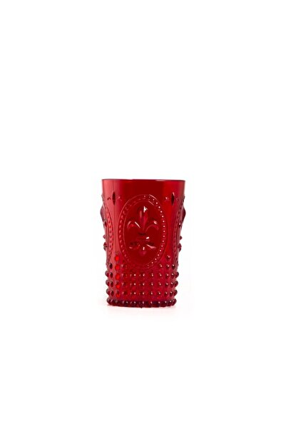 EW's Kitchenware Akrilik Kırmızı Kısa Bardak