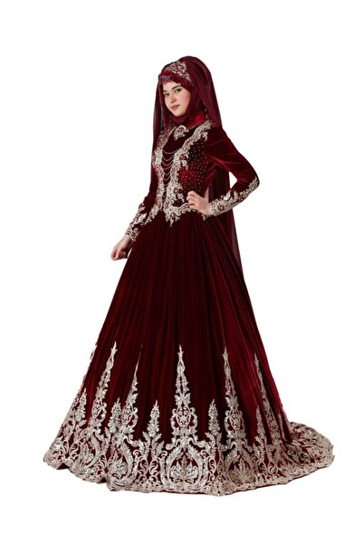 Ceyyiz Kadın Tesettür Modeli Bindallı Kına Elbisesi Lavin