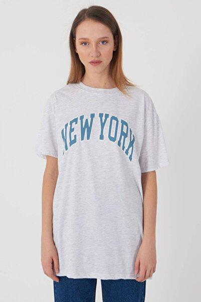 Addax Yazı Detaylı T-shirt P9524 - K8