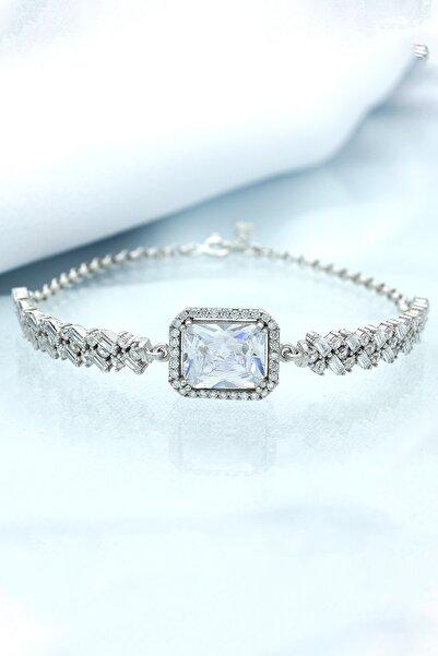 Else Silver 925 Ayar Gümüş Baget Taşlı Prenses Bileklik