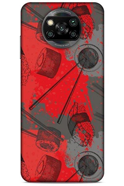Lopard Xiaomi Redmi Poco X3 Uyumlu   Kılıf Japonya (24) Darbe Emici Kılıf Suşi