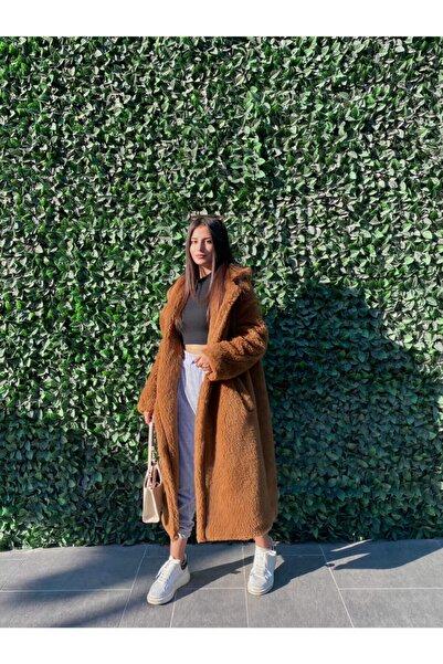LaPera Kadın  Kahverengi Teddy Uzun Kürk