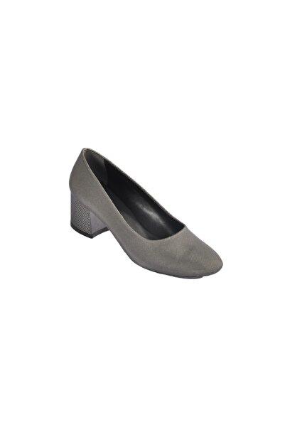 Maje 5001 Platin Kadın Topuklu Ayakkabı