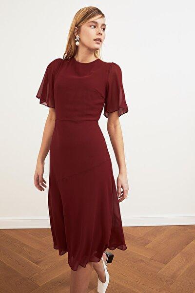 TRENDYOLMİLLA Bordo Basic Şifon  Elbise TWOSS20EL0908