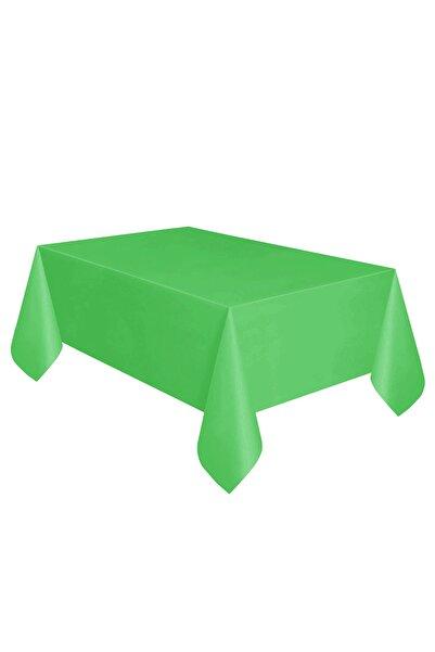 Parti dolabı Yeşil Doğum Günü Parti Masa Örtüsü Plastik Ve Tek Kullanımlık
