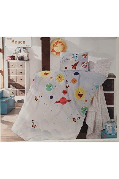 Altınbaşak Space Mavi Bebek Nevresimli Triko Battaniye Set