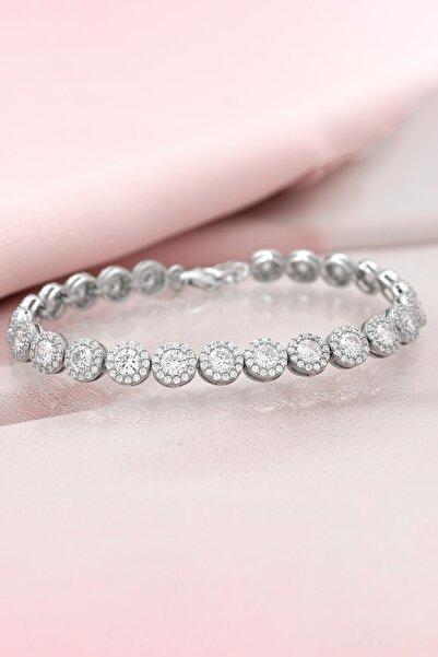 Else Silver Pırlanta Tasarımı Su Yolu Aşk Tohumları Gümüş Bileklik