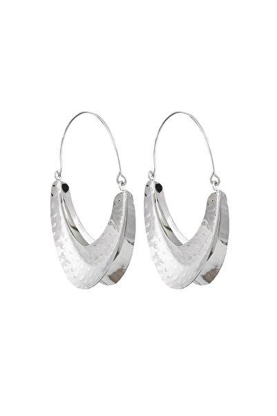New Obsessions Kadın Gümüş Dövme Metal Çanta Küpe