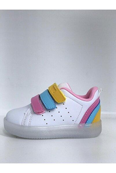 Vicco Bebe Beyaz -pembe Işıklı Ayakkabı