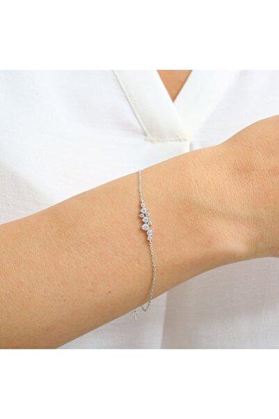 Mia Vento Pırlanta Montür Asimetrik Işıltı Gümüş Bileklik