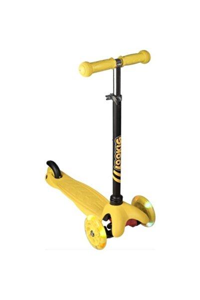 Vardem Sarı Led Işıklı 3 Tekerlekli Yükseklik Ayarlı Sarı Scooter