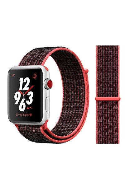 zore Apple Watch 1 2 3 4 5 6 Se Serisi Uyumlu Spor Loop Hasır Cırt Cırtlı Kayış Kordon 44 mm