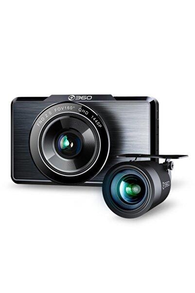 +360 360 G500h Ön 2k-arka 1080p 160° Geniş Açı Gece Görüşü Dahili Gps Akıllı Araç Içi Kamera