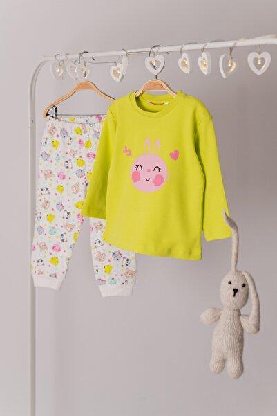 Zeyland Tavşan Baskılı Pijama Takımı (1-4yaş)