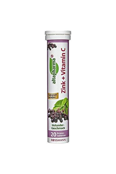 Altapharma Vitamin C,çinko Içeren Takviye Edici Gıda Efervesan Tablet Kara Mürver Aromalı 20 A