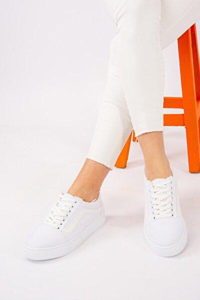 Fox Shoes Beyaz Kadın Spor Ayakkabı F652060005