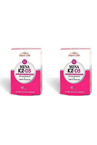 New Life Mena K2+d3 Natural Vitamin 30 Kapsül 2'li Paket