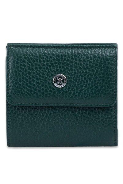 Tergan Yeşil Deri Kadın Cüzdan 05627