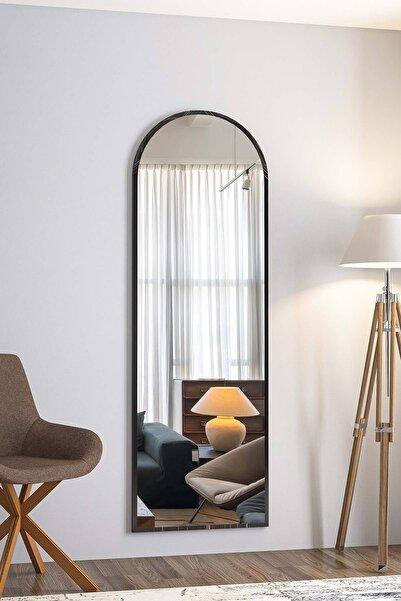 bluecape Dev Boy 180cm Siyah Mermer Desenli Ayna Salon Ofis Mutfak Çocuk Odası Duvar Konsol Boy Aynası