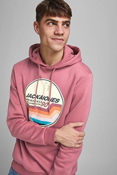 Jack & Jones Loopback Logo Erkek Kapüşonlu Sweatshirt -12186385