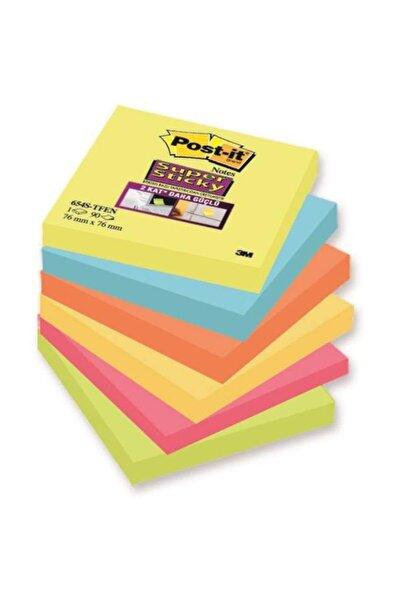 Post-it Super Sticky Not, Tutti Frutti Serisi, 6lı paket, 90 yaprak, 76x76mm