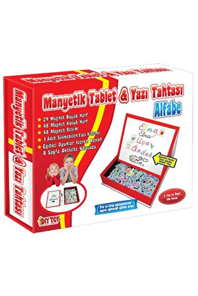 DIYTOY Manyetik Tablet Alfabe Seti & Yazı Tahtası