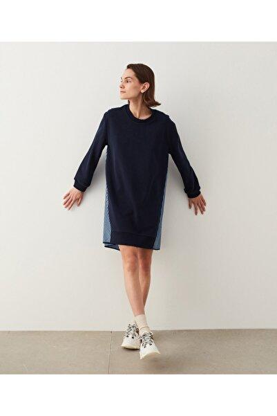 İpekyol Kumaş Mixli Sweat Elbise