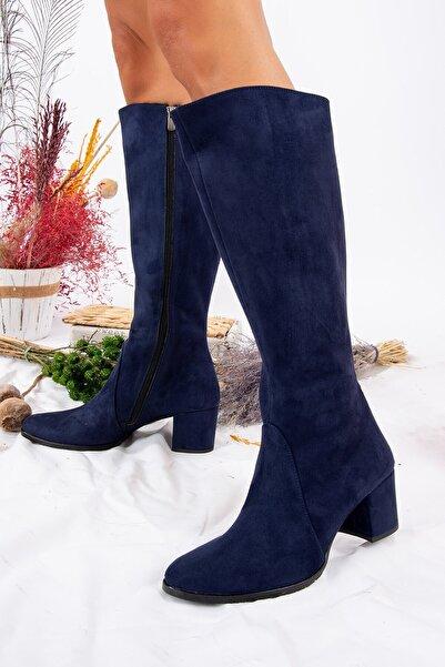 Fox Shoes Lacivert Kadın Çizme A654252702