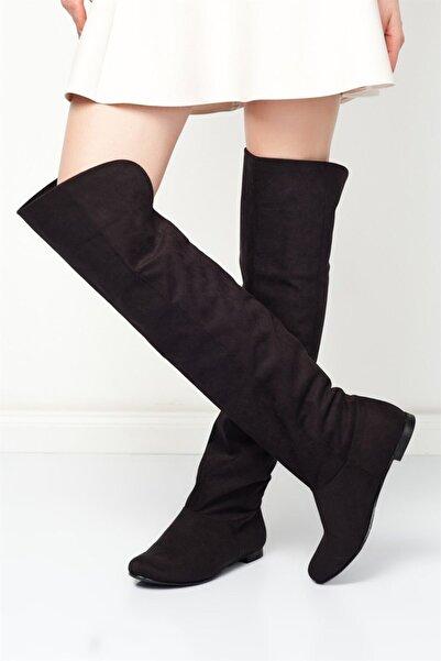 Fox Shoes Siyah Kadın Çizme 8248025902