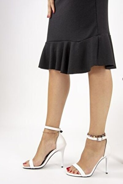 Beyaz Kadın Topuklu Ayakkabı B922112609