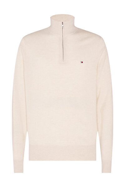 Tommy Hilfiger EXTRAFINE SOFT WOOL ZIP MOCK