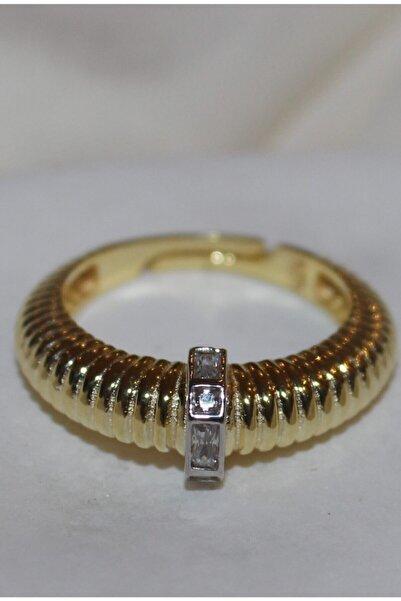 MODERN JEWELS DESIGN 925 Ayar Taşlı Gold Gümüş Yüzük