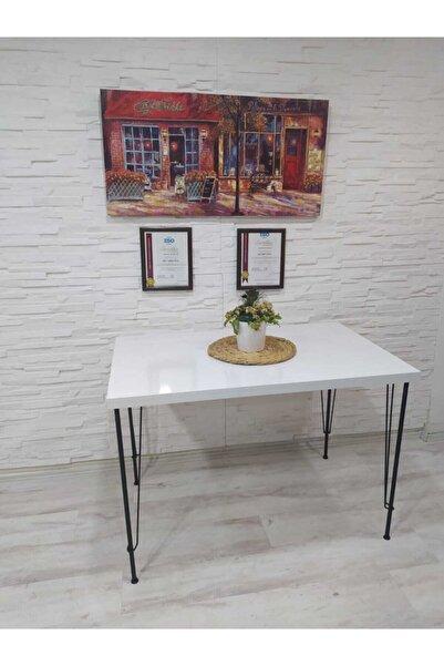 AVVİO Ezgi Yemek Masası Takımı-mutfak Masası Takımı-beyaz