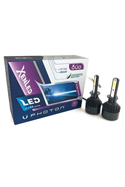 Photon H1 Duo Led Xenon Şimşek Etkili Beyaz Zenon H1