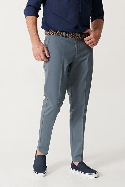 ALTINYILDIZ CLASSICS Erkek Petrol Slim Fit Desenli Pantolon