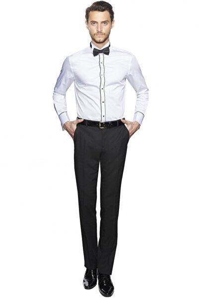 ALTINYILDIZ CLASSICS Erkek Beyaz Damatlık Ata Yaka Tailored Slim Fit Gömlek