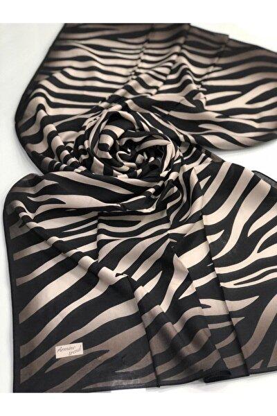 Armine Kadın Zebra Desen Modal Şal V01