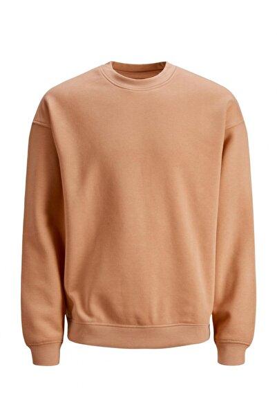 Jack & Jones Erkek Düz Shell Coral Sweatshirt - 12186363