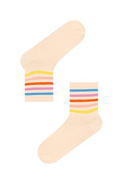 Penti Kadın Şeftali Cool Colorful Soket Çorap