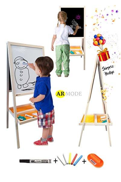 AR MODE Kids Eco Serisi Çift Taraflı Ahşap Çocuk Yazı Tahtası