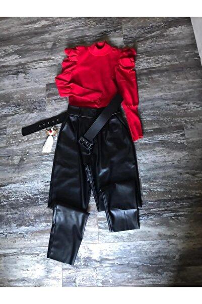 LIEF Deri Siyah Pantolon