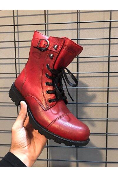 Scooter Kadın Bordo Çizme