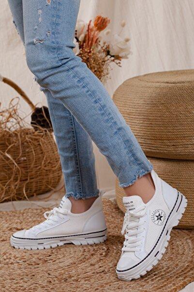MORENİCA Kadın Beyaz Yeni Sezon Günlük Sneaker