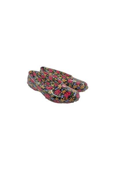 fafatara Kadın Karışık Renkli Çiçekli Lastik Ayakkabı