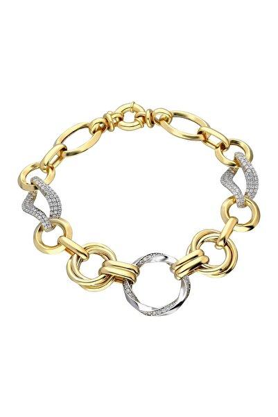 Chavin Kadın Hallow Altın Modeli Mikron Kaplama Gümüş Bileklik