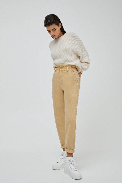 Pull & Bear Elastik Belli Paperbag Jean