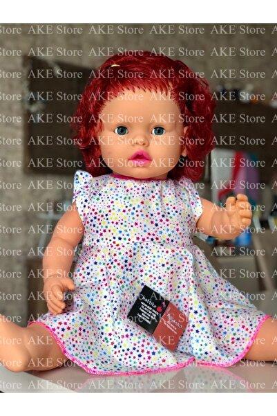Gamze Oyuncak Türkçe Konuşan Kızıl Saçlı Kız Et Bebek 60 Cm (Görseller Ake Store'a Aittir.)