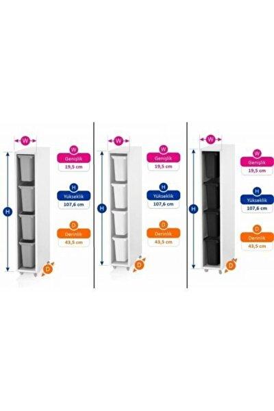 Vip Home Ahşap Plastik Çekmeceli Şifonyer Çok Amaçlı Düzenleyici Dolap Vps-07