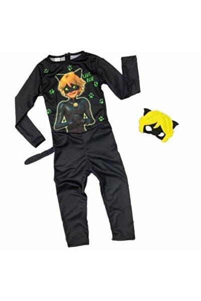 Tek Favorim Kara Kedi Çocuk Kostümü - Maskeli Çocuk Kostümü - Maskeli Kara Kedi Kostümü Lady Bug Karakedi Kostüm