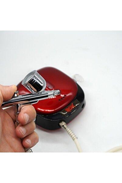 Rox 0066 Akülü Airbrush Kompresör Mini Boya Tabancası Seti